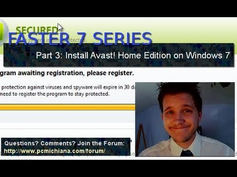 How To Install Avast! Free Antivirus on Windows 7 - Ep. 3