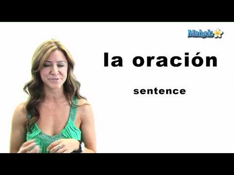 "How to Say ""Sentence"" in Spanish"
