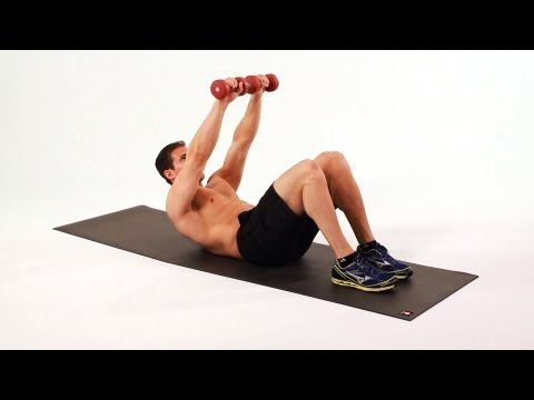 How to Do a Long Arm Weighted Crunch | Home Ab Workout for Men