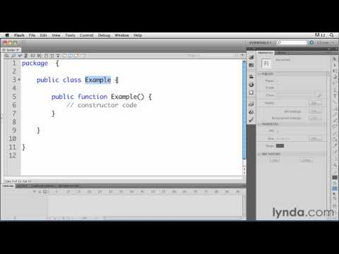 Creating an ActionScript class file in Flash | lynda.com tutorial