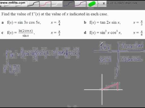 (4) Harder Trig Core 3 and 4 Differentiation Playlist (product sin^2x cos^3x)