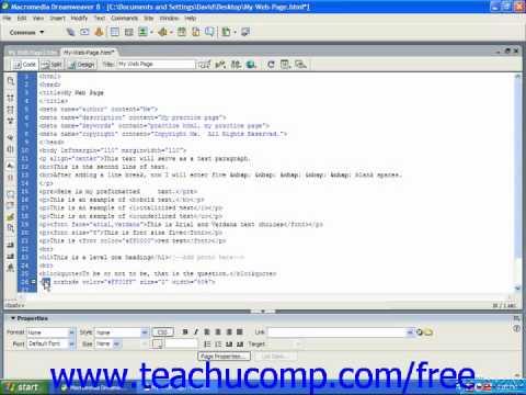 HTML Tutorial Horizontal Lines Training Lesson 5.4