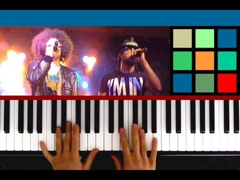 "How To Play ""Sexy And I Know It"" Piano Tutorial / Lesson (LMFAO)"