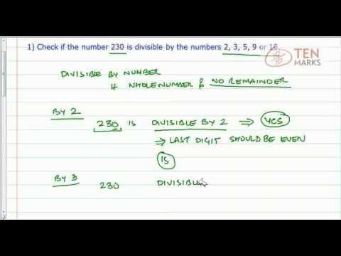 Divisibility by 2, 3, 5, 9, or 10