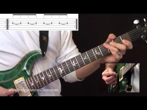 "07 Learn Electric Guitar ""Hammer On Exercises"" - Rock Guitar Lesson"