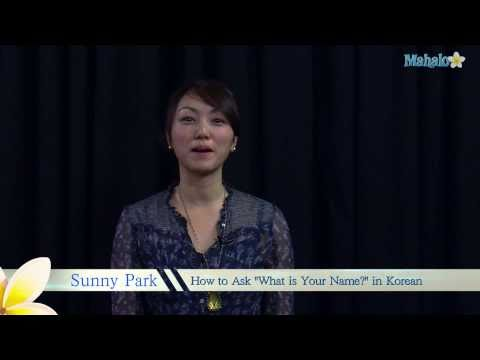 "How to Ask ""What is your name?"" in Korean"