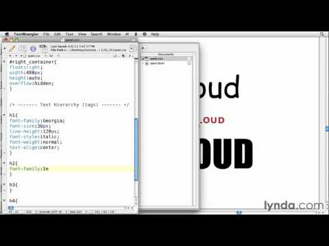 How to style font in CSS | lynda.com tutorial