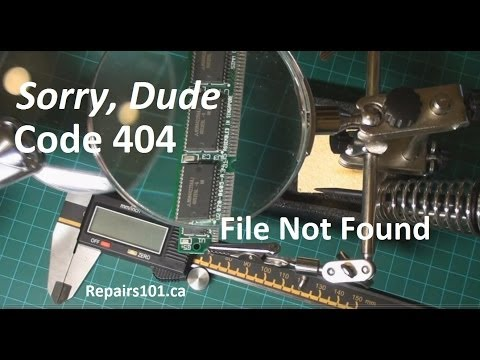 Sorry Dude - Code 404 - File Not Found