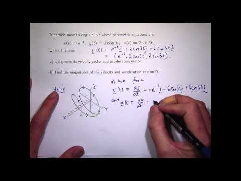 Velocity and acceleration on a helix