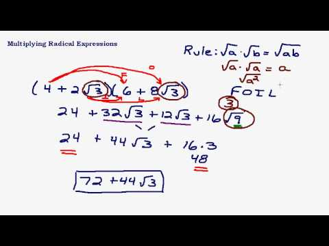 Multiplying Radical Expressions - Square Roots
