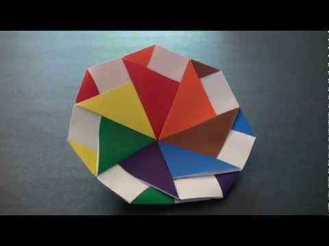 Origami Daily - 356: Modular Spinning Top (Re - Upload) - TCGames [HD]