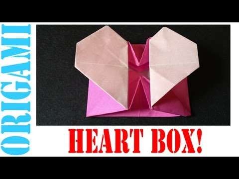 Origami Daily - 176: Pop Up Heart Box (Basket) (Valentine's Day) - TCGames [HD]