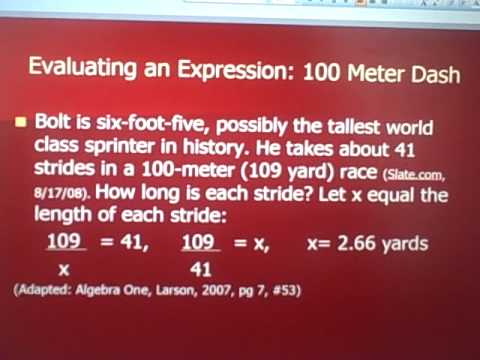 Algebra for Sports Fans- Part One