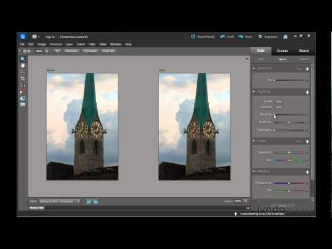 Photoshop Elements 10: Fixing image exposure and lighting | lynda.com