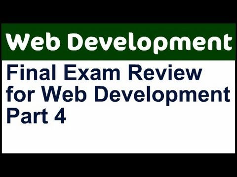 CIS 195 Final Exam Review - Part 4