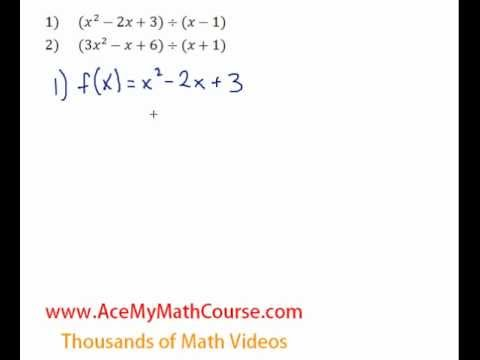 Remainder Theorem - Question #1