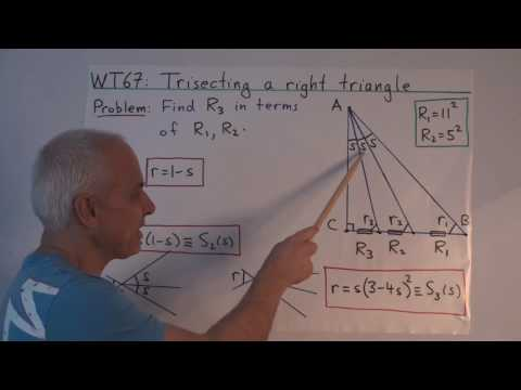 WT67: Trisecting a right triangle
