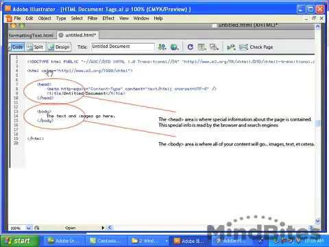 Learn HTML Basics within Dreamweaver
