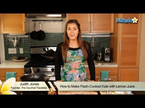 How to Flash-Cook Kale With Lemon Juice