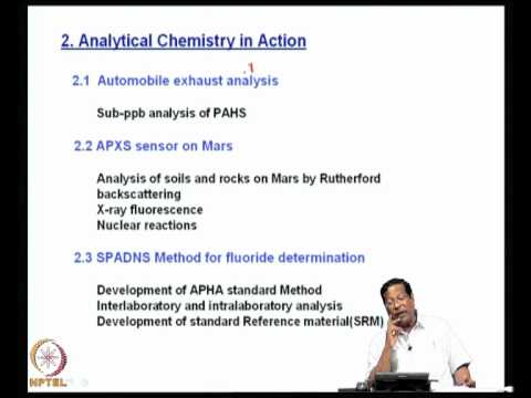 Mod-01 Lec-01 Introduction to the Modern Instrumental Methods of Analysis