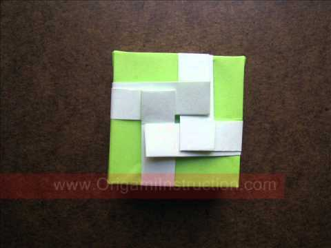 How to Fold Origami Single Sheet Gift Box - OrigamiInstruction.com