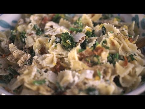 Bacon, Rapini and Ricotta Pasta Recipe (How To Make It) || Kin Eats