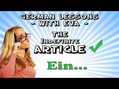 German Lesson 10 - The Indefinite Article