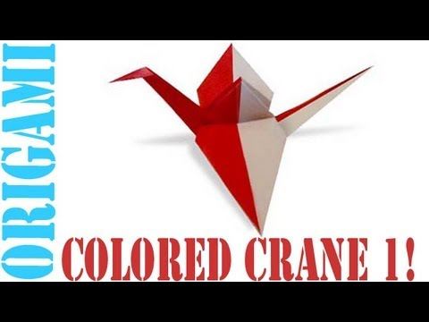 Origami Daily - 059: Double Coloured Tsuru (Japanese Peace Crane) Version 1 - TCGames [HD]
