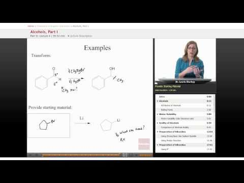 Organic Chemistry: Alcohol Transformation