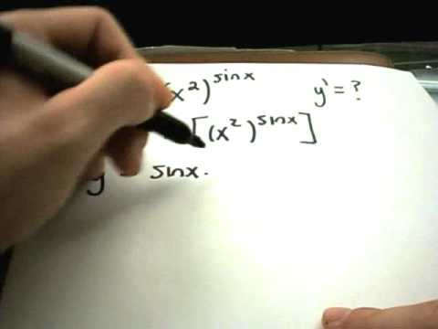 Logarithmic Differentiation - Example 2