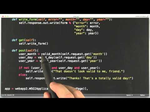 Problems With Html Input - CS253 Unit 2 - Udacity