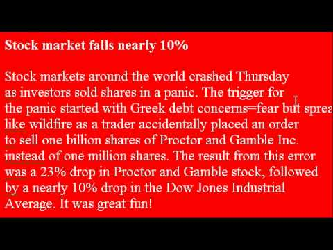Accent Reduction Learn English Lesson 13 - Stock Market Crash!