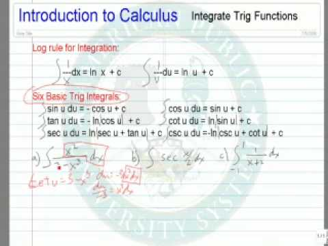 Integrate Trig Functions
