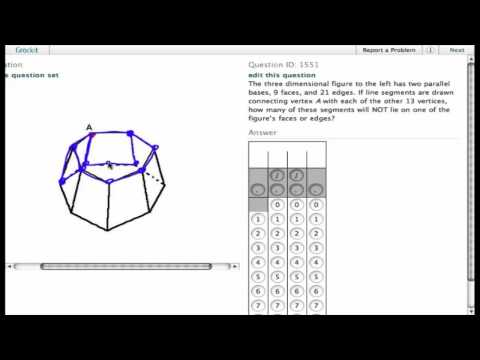 Grockit SAT Math - Student Produced Response: Question 1551