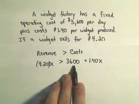 Solving Word Problems Involving Inequalities - Example 1