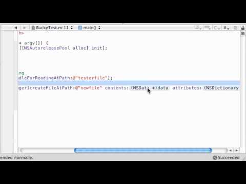 Objective C Programming Tutorial - 65 - Read and Write Files