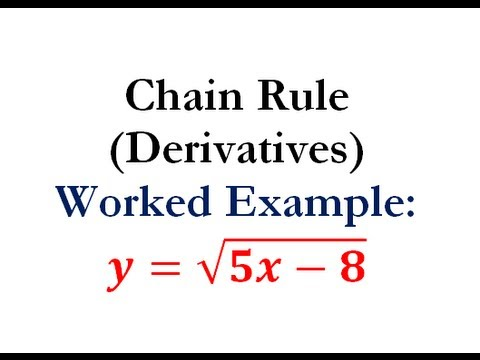 Derivatives - Chain Rule Question #3