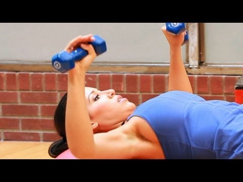 Beginner Strength Training Program for Women: Chest Press with Ball