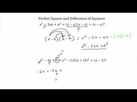 Perfect Square and Difference of Squares