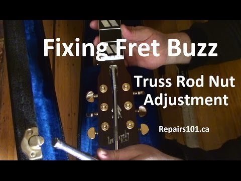 Guitar - Fixing Fret Buzz - Truss Rod Nut Adjustment