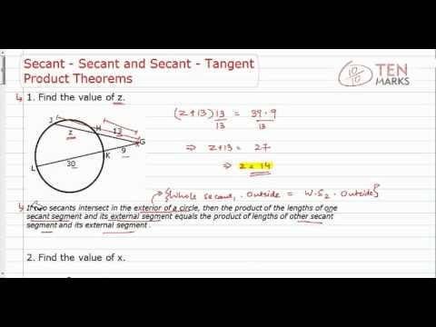 Secant-Secant and Secant-Tangent Product Theorem