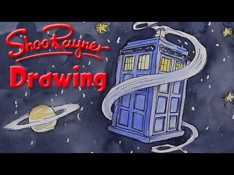 How to draw Doctor Who's TARDIS