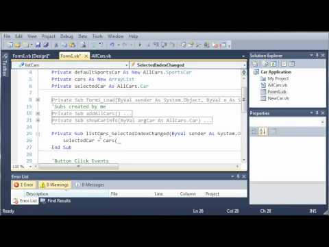 Visual Basic Tutorial - 116 - Car Part 11   Showing Info Of Multiple Cars