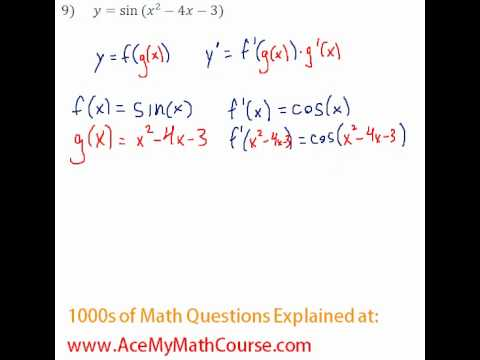 Derivatives - Chain Rule Question #9