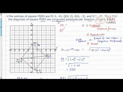 Verify Properties of a square