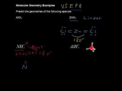 Molecular Geometry Examples with VSEPR Model - Chemistry Tips