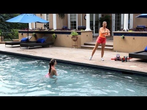 How to Do a Water Aerobics Disco Walk Dance Move | Water Aerobic Exercise