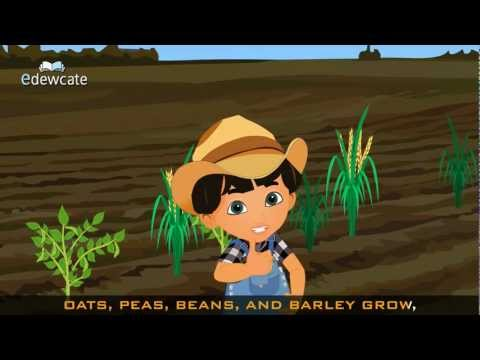 Edewcate english rhymes - Oats peas beans and barley grow