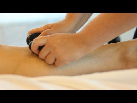 How to Place Hot Stones for Front Leg Massage | Hot Stone Massage Therapy