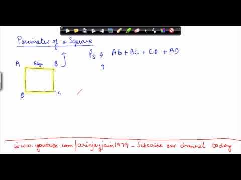 144-$ CBSE Class VI Maths,  ICSE Class VI Maths -   Perimeter - Problem 2